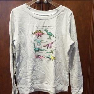 Paleontology Society Dinosaur Sweatshirt Seam Sz L